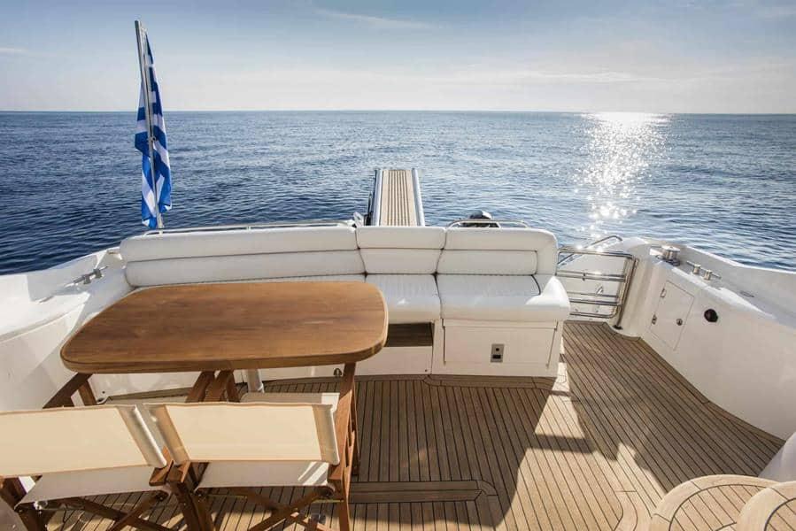 mykonos yacht stern