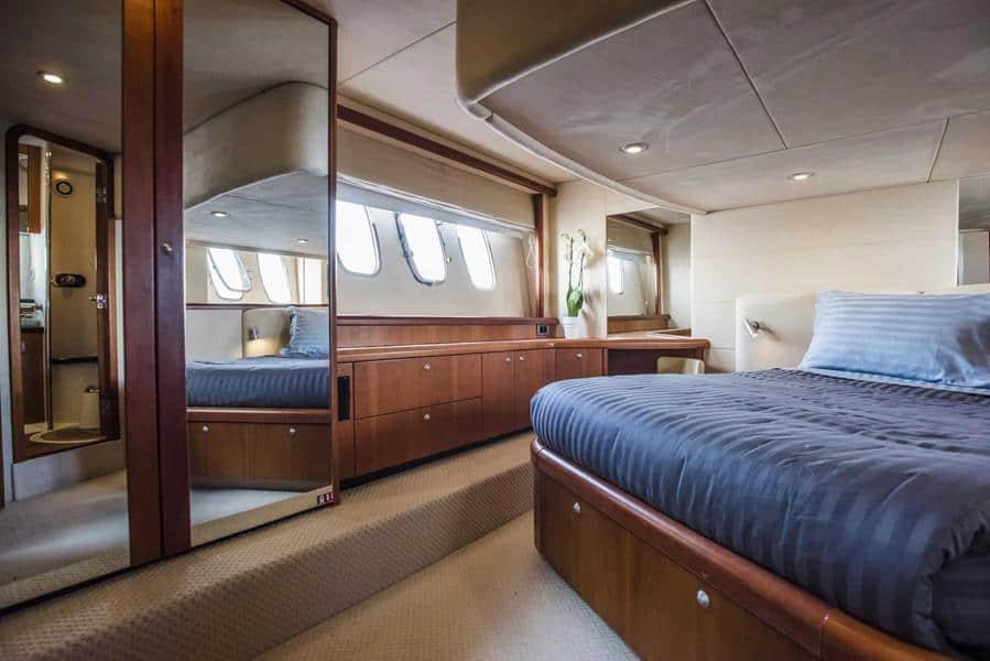 mykonos yacht charter master bedroom