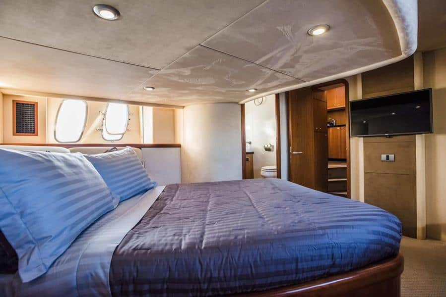 indor accommodation of mykonos yacht