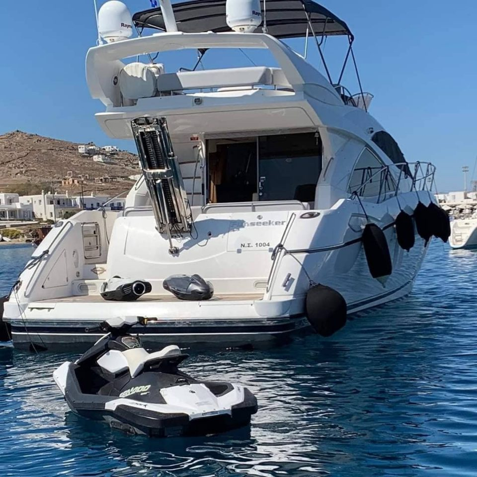 seadoo jet ski toys of mykonos yacht